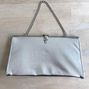 Silver vintage clutch